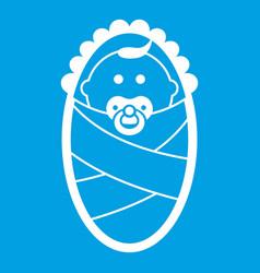 Newborn icon white vector