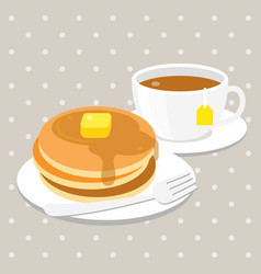 pancake and tea vector image