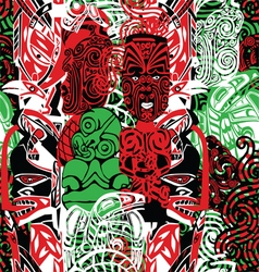 Pattern with style maori vector