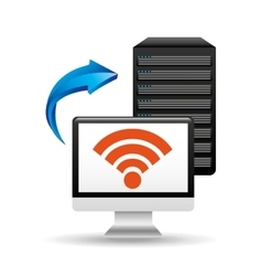 pc data base wifi arrow vector image