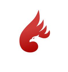 Phoenix logo concept vector