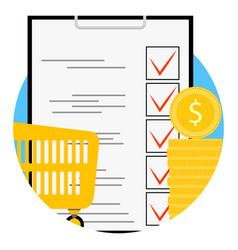 planning supermarket app icon vector image