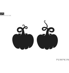 pumpkins silhouette vector image