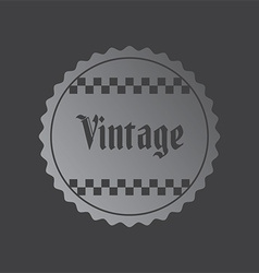 Retro label vector