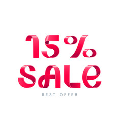 sale 15 percent off vector image