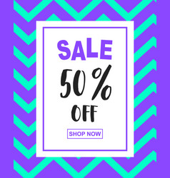Sale banner template in creative retro style vector