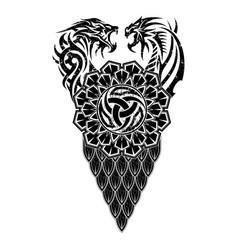 Scandinavian tattoo 0008 vector