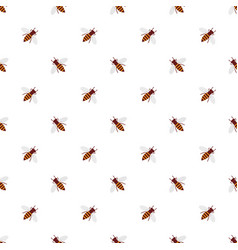 seamless pattern background with cute honey bees vector image