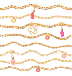 Seamless pattern with jewelry elements pendants vector