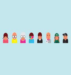 Set family avatar design template vector