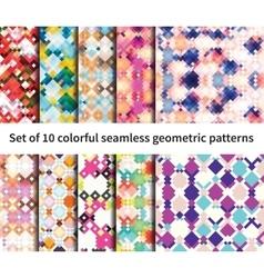 Set of 10 fantasy patterns vector