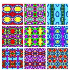 set of different seamless colored vintage vector image