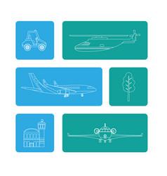 Set of transport air service vector