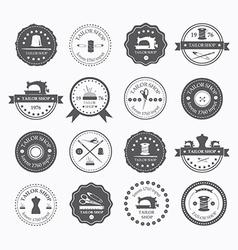 Set of vintage tailor labels vector