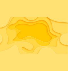 shades of yellow background are cut from paper vector image