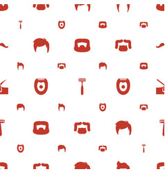 Shave icons pattern seamless white background vector