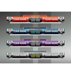 sport scoreboard design elements vector image