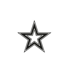 Star icon classic rank isolated vector