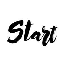 Start lettering design vector image