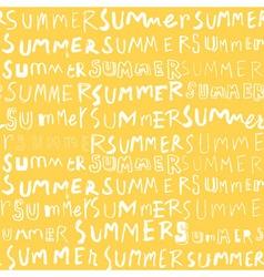 Summer pattern yellow vector
