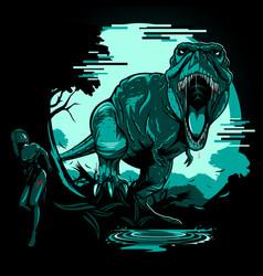 T-rex 404 page error comes alive vector