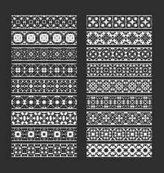 Traditional ornamental elements for brushes vector