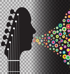 Transparent BG Guitar vector image