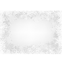 white snowflakes background vector image