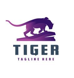 wild tiger animal logo vector image