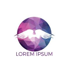 wings logo design template vector image
