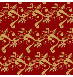 winter floral red vector image