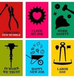 Work cards vector image