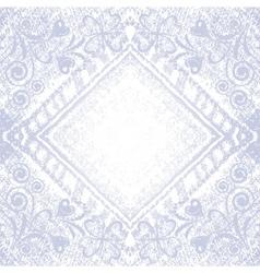 denim floral background vector image vector image