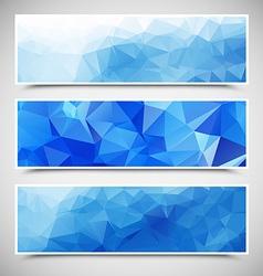Polygonal Banners Set vector image vector image