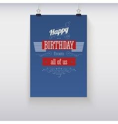 Poster Happy Birthday vector image vector image
