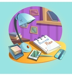 Business workplace concept vector image