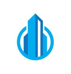circle real estate logo concept image vector image