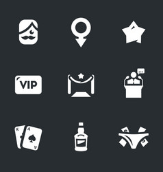set of man club icons vector image vector image