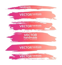 Abstract realistic smears pink gouache paint set vector image vector image