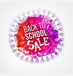 back to school sale circle splash vector image vector image