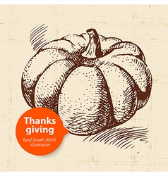 Hand drawn vintage Thanksgiving Day vector image vector image