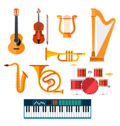 musical wind key or string instruments vector image