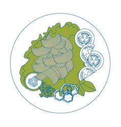 salad plate gourmet vector image