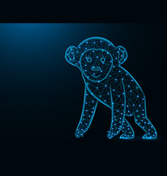 a monkey low poly model african animal abstract vector image