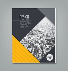 Annual report book cover brochure flyer design vector