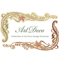 Art deco design element - corner vector