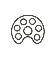 artist palette icon line art symbol vector image