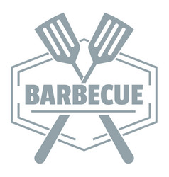 Barbecue logo simple gray style vector