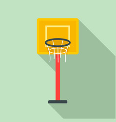 basketball tower icon flat style vector image