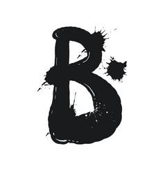 blot letter b black and white vector image